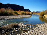 Rio Grande River along the river road from Terlingua to Presidio.