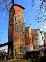 Grain silo in Johnson City, Texas