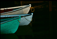 Boats in Meat Cove, Nova Scotia.