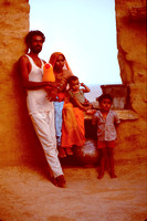 Family home on wall of Fort Jaisalmer.