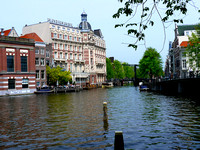 The Famous canals of Amsterdam.